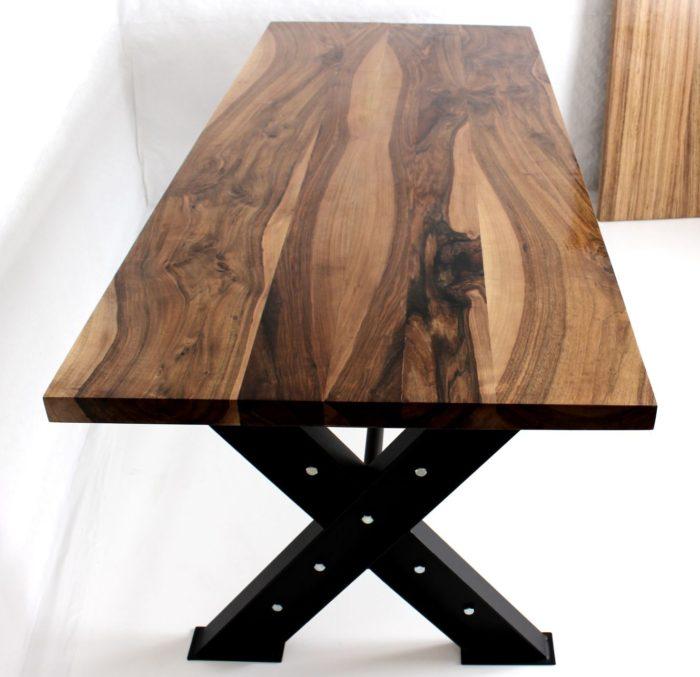 dining table walnut luxury tauruswood design industrial epoxy resin kitchen hard massive wood
