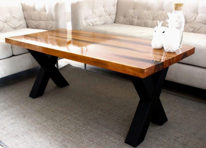 cherry luxus design table epoxy resin tauruswood industrial base legs