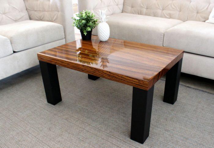 zebrano epoxy resin table tv table gloss quality